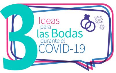 3 ideas para las bodas durante el COVID 19